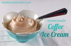 Homemade coffee ice cream - just 3 ingredients