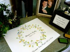 MEDIUM Wedding Guest book Wreath 20x16  by LastingKeepsakes, $45.00