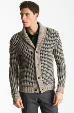 Pringle of Scotland Chunky Waffle Shawl Collar Cardigan | Nordstrom  #Aim2Win