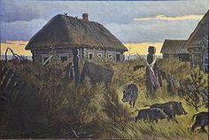 Віктар Шматаў «У ваколіцах Чарнобыля», 1993.