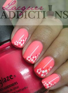 China Glaze Flip Flop Fantasy with gradient accent and polka dots