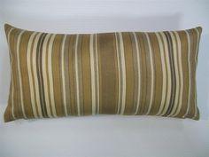 "$15  Decorative Pillow Cover-8""x16"" - Mini Lumbar pillow Cover - Stripes"
