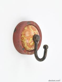 Round Coat Hooks rustic wreath wall hook | small round metal coat hook | unique