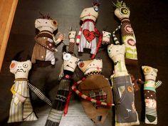 Andrew Dyrdahl's wierd dolls.  Via Teesha Moore