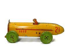 Ferdinand Strauss tin wind up toy race car #21