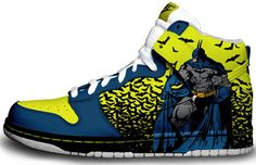 These are actually pretty baller. Brass Monki Custom Nikes-- Gallery: The 25 Coolest Comic Book-Inspired Sneakers