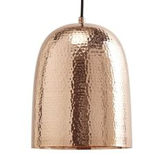 Litecraft 1 Light Copper Dome Ceiling Pendant - Copper | Debenhams