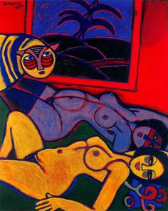 By Corneille (1922-2010), an avant-garde Dutch artist, whose work was influenced by Miro and Klee, as well as African art.