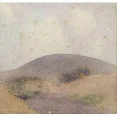 Works on Paper - John William Tristram - Page 4 - Australian Art Auction Records Watercolor Canvas, Watercolor Landscape, Landscape Paintings, Landscapes, Watercolour, Australian Painting, Australian Art, Pond Landscaping, Sky Sea