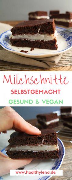 Vegane Milchschnitte: einfach, gesund & lecker - mit nur wenigen Zutaten. Kreiere jetzt eine gesunde Version des Kindheitstraum-Klassikers.