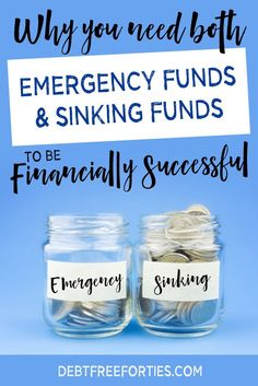 Why you need both emergency funds and sinking funds to be financially successful #budget #debt #emergencyfund #sinkingfund