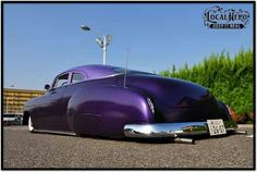 Grounded burple Chevy coupe