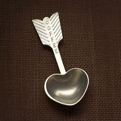 Beehive Handmade Heart Coffee Scoop HCS, Artistic Artisan Designer Kitchenware