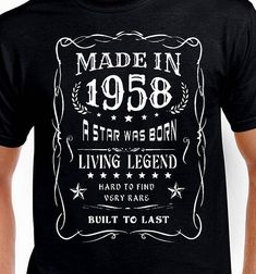 148ae5f4 Items similar to 60th birthday Gift for Men Father Husband Uncle Funny 60th  birthday T-shirt Vintage Turning 60 Years Old Made In 1958 Tshirt Bday Born  Tee ...