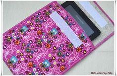 e-Reader Taschen - e-Reader Tasche Liebesvögel / Größe variabel - ein Designerstück von Filz-Tilly bei DaWanda