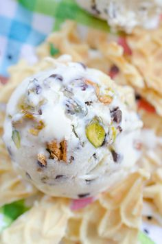 No-Churn Cannoli Ice Cream with Ricotta and Pistachios