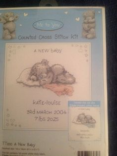 Tatty Teddy A New Baby Sampler