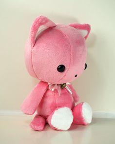 Cute Bellzi Stuffed Animal Pink w/ White Contrast by BellziPlushie, $40.00