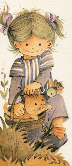 Jaklien Moerman Illustration Mignonne, Cute Illustration, Cute Images, Cute Pictures, Images Vintage, Sarah Kay, Holly Hobbie, Pintura Country, Precious Children