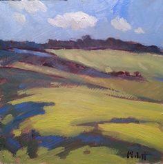 Heidi Malott Original Paintings: Rolling Greens Soybean Fields Daily Oil Painting