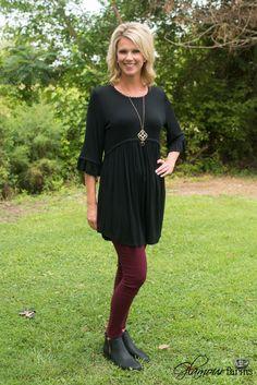 The Eloise Tunic/Dress - Black