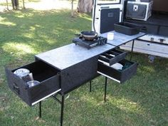Outdoor/camping kitchen that folds up