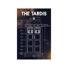 Doctor Who - Tardis Plans Poster ($6.99) ❤ liked on Polyvore featuring home, home decor, wall art, doctor who poster, british home decor and dr who poster