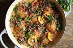 Creamy Lemon Chicken with Wild Rice  - Delish.com