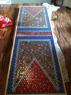 Beer Cap Beer Pong Table... So making this!!!