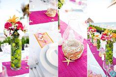 Dreams Tulum beach wedding table decorations