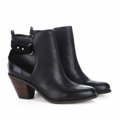 Sole Society Julianne Hough - Round toe booties - Idelle - Black