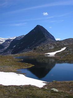 Kebnekaise, the highest peak in swedish lappland
