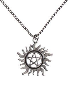 Supernatural Anti-Possession Symbol Necklace   Hot Topic