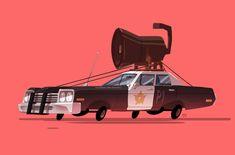 Ido Yehimovitz ilustra vehículos famosos