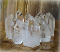 Clear Quartz generator points from Brazil by TheSageGoddess, $30.00