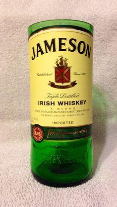 Jameson Irish Whiskey Bottle Glass Vase or Drinking Glass. on Etsy, $15.00