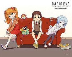 eva cuteness! #anime #evangelion #anime #radio eva