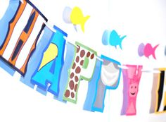 Finding Dory HAPPY BIRTHDAY Banner  Ocean Birthday Salt by Devany