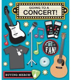 Concert Scrapbook Stickers