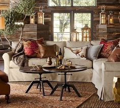 York Roll Arm Slipcovered Left arm Loveseat, Down Blend Wrapped Cushions, Twill Cream At Pottery Barn - Furniture - Sofa & Sectional Collections Pottery Barn Furniture, Sofa Furniture, Sectional Slipcover, Slipcovers, Beige Living Rooms, Living Room Decor, Living Area, Barn Living, Salons Cottage