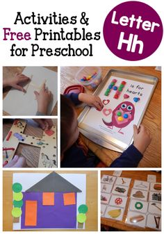 Fun letter H activities for preschool!