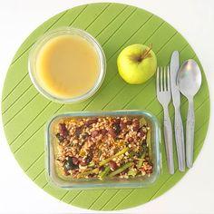 Hoje é dia de trigo sarraceno com feijão vermelho grelos e feijão-verde num estufado com tomate gengibre e alho. Bom apetite