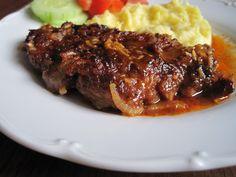 Happy Foods, Steak, Cooking Recipes, Beef, Vintage, Meat, Ox, Vintage Comics