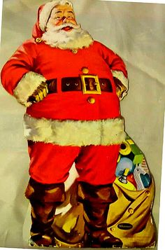 1950's Santa Claus *1500 free paper dolls for Christmas gifts Arielle Gabriels The International Paper Doll Board also free Asian paper dolls at The China Adventures of Arielle Gabriel *