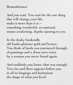 you wait - make it more than this. make it something stones awakening.