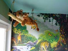1000 ideeën over Jungle Kinderen Kamers op Pinterest - Jungle Kamer ...