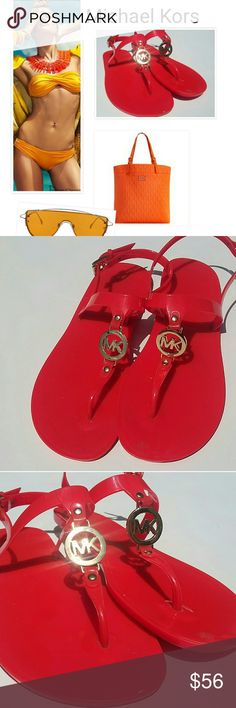 MICHAEL KORS TANGERINE JELLY SANDALS SZ 9 MICHAEL KORS TANGERINE JELLY SANDALS  SUMMER READY WORN 4 TIMES VERY LOVED! GREAT BEACH OR EVERYDAY SANDAL SIZE 9 BUY NOW OR BUNDLE AND SAVE  WE LOVE OFFERS!  SUGGESTED SELLER  SAME DAY SHIPPING  SHOP WITH CONFIDENCE!! Michael Kors Shoes Sandals