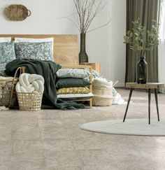 Stone-look tile designs are an excellent choice for bringing the warmth of sun-kissed stone into your home. Shown here is the Skukuza tile collection from Out of Africa. Living Room, Furniture, Accent Chairs, Tiles, Tile Design, Nature Design, Home Decor, Eclectic Style, Stone Look Tile