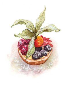 Fruit Tart  Print 8.5in x 11in by Alicia por aliciaseverson en Etsy, $15.00