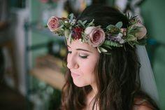 Flower Crown Bride Bridal Industrial Indie Autumn City Wedding http://www.elliegracephotography.co.uk/